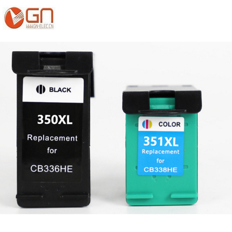 GN 2PK 350XL 351XL ink cartridge Replacement for <font><b>HP</b></font> 350 <font><b>351</b></font> use for D4200 D4260 D4263 D4360 J5730 5780 5785 C4380 4480 4580 4270 image