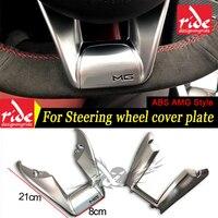 UM Estilo W213 Baixa Cobertura de Volante ABS Prata 1:1 Substituição E Classe E200 E250 E300 interior de Direção tampa da roda placa 16 +|Volantes e buzinas| |  -