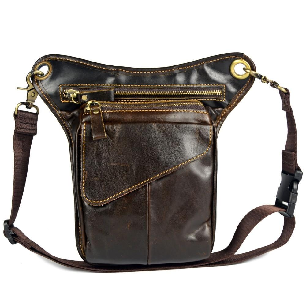 2015 쇠가죽 채찍으로 치다 가슴의 다리 가방을위한 핫 고품질 진짜 가죽 허리 가방 남자의 어깨 가방 메신저 가방