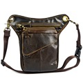 2015 Hot High quality genuine leather waist bag men's Shoulder Bag Messenger Bags for men cowhide chest leg bag