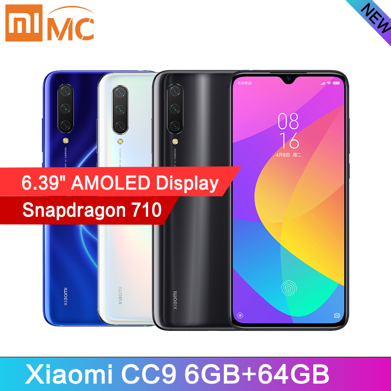 New Arrival Xiaomi CC9 Snapdragon 710 Octa Core 6GB 64GB Mobile Phone 6.39