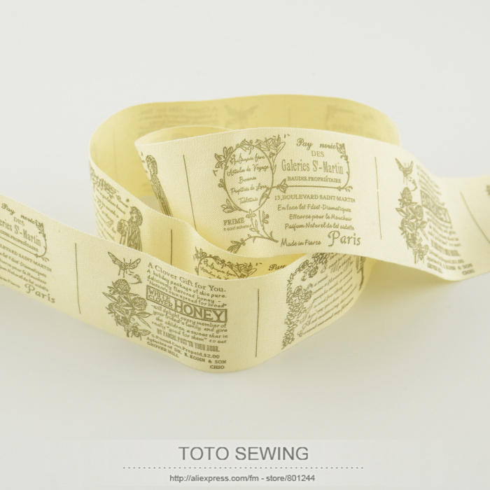TOTO sewing accessory fairy plot label mini.order is $5 (mix order) 4CM width Zakka cotton ribbons sewing tape free shipping