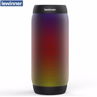 lewinner colorful Waterproof LED Portable Bluetooth Speaker BQ 615 Wireless Super Bass Mini Speaker with Flashing Lights FM