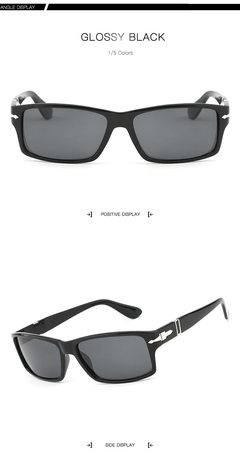 Pria kacamata merek desain terpolarisasi berjemur kacamata pria 2018 terpolarisasi  kacamata hitam pria kacamata hitam vintage pria kacamata retro square ... d0a41406ab