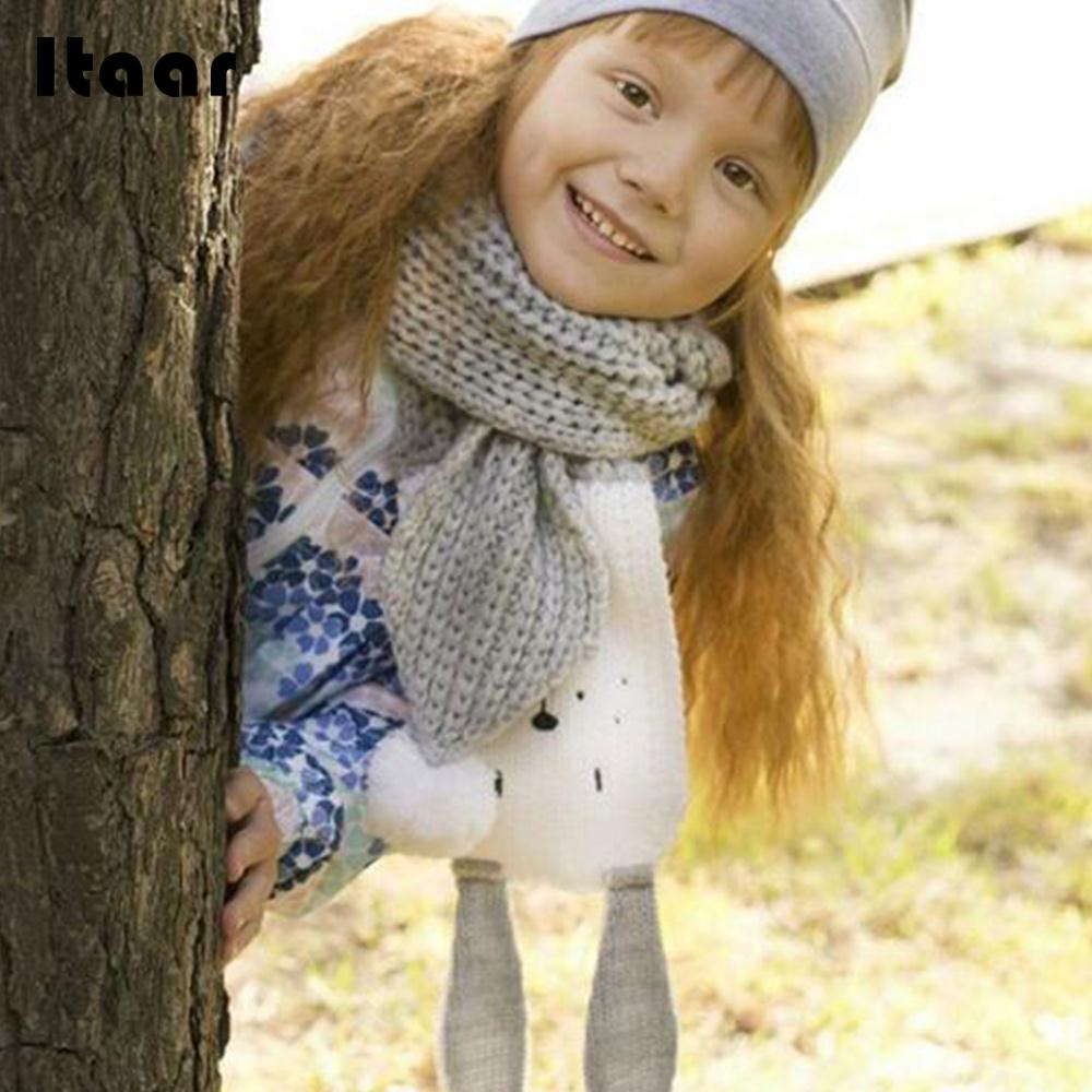 Cute Knitted Scarves Fashion Lovely Collar Kids Shawl 110*10cm