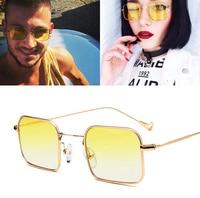 af09f122cb3 JackJad 2017 Fashion Gradient Tint Ocean Lens Sunglasses Cool Small Square  Metal Frame Brand Design Sun