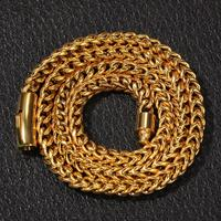 Europe and the United States retro tide men's anti chain bracelet hip hop gold color fashion men's jewelry