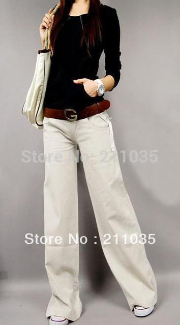 Feminino Tipo de Linho Ampla Perna Calças Retas Fluidos Calças Casuais de Alta Qualidade das Mulheres Calças De Linho Cintura Elástica Calças Soltas