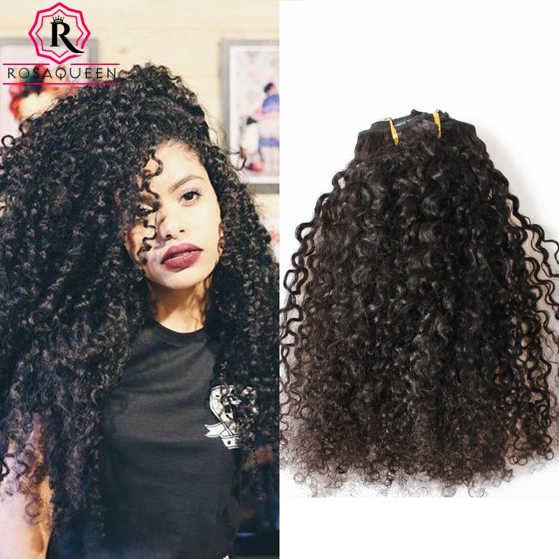 Aliexpress Buy Kinky Curly Clip In Hair Extensions Natural