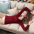 Ropa interior térmica ropa interior de cachemira de las mujeres de lana de las mujeres con cuello en V manga corta sólido fundación Ropa Interior de la Ropa Interior sexy de encaje