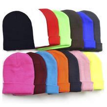 28 Colors Drop Shipping New 2016 Fashion Knitted Neon Women Beanie Girls Autumn Casual Cap Women's Warm Winter Hats Unisex