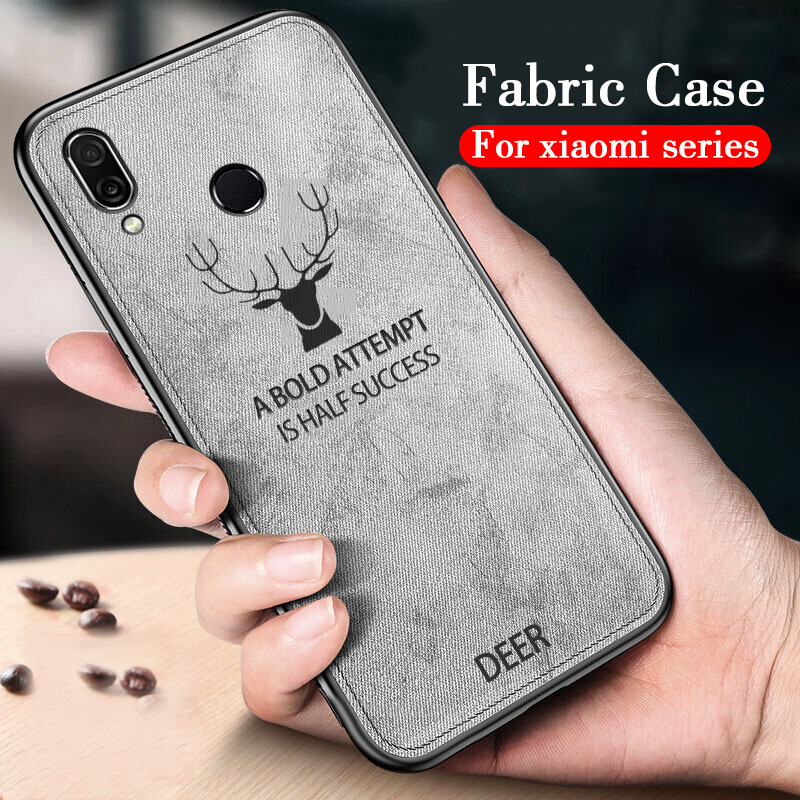 pocofone f1 case For Xiaomi <font><b>mi</b></font> 8 lite 6 5 <font><b>Max</b></font> 3 <font><b>2</b></font> Silicone Edge fabric Soft Back Cover Case For Xiaomi Pocophone F1 Luxury shell image