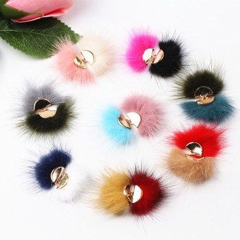 30pcs Mix Colors Handmade Mink Fox Fur Tassel Pendants DIY Earring Jewelry Accessories Fit Woman Fashion Jewelry Material