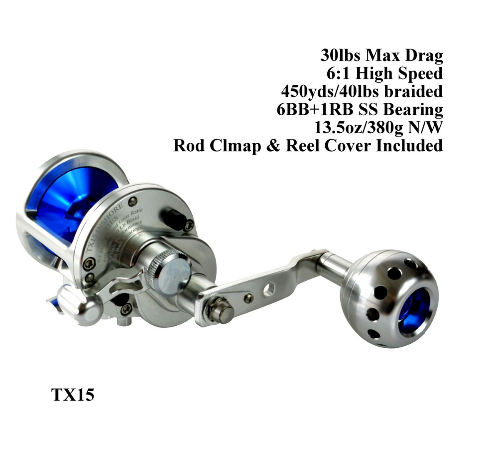 Saltwater Reel Jigging High Speed 6:1 Sea Game Fishing 15W 30lbs Silky Smooth Extra Light Right and Left Hand Gomexus