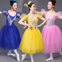 Adult white Swan Lake Ballet dancing dress Women Ballroom Ballet Romantic tutu Dance Outfits Stage wear Party dance wear dress