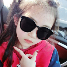 Fashion Brand Designer Cat Eye Sunglasses Kids Child Sun Glasses Anti-UV Baby Girl Boy