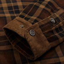 Winter Snow Warm Men Shirts Thick lined Plaid Plus Size Brand AFS JEEP 100% Cotton 2018 New Windbreaker Casual Male Blouses