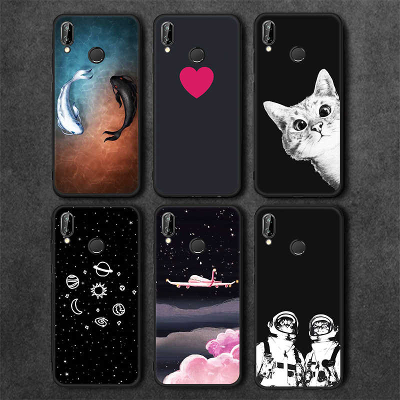Pink Matte Phone Case For Huawei P20 Pro Nova2i Mate 10 P10 P8 P9 Lite Soft TPU Star Paint Back Cover For Honor 9 8 Lite Y9 2018