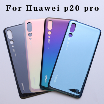 Cover posteriore back cover batteria per Huawei P20 Pro Back Glass Battery Cover Rear Door Housing Case Panel F Back Glass Cover With Camera Lens 1