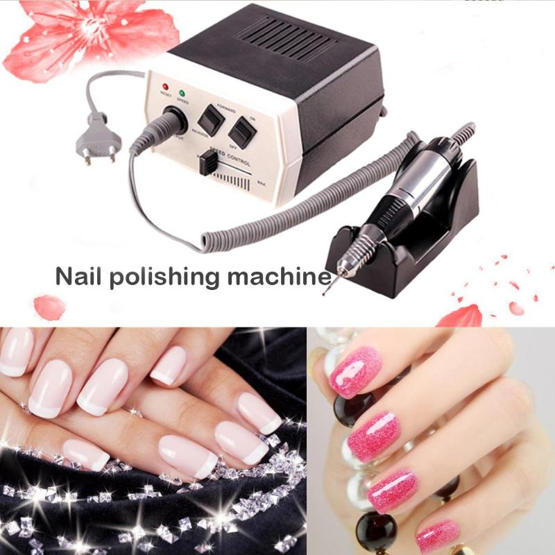 35W Electric Nail Art Drill Machine Professional Nail Manicure Equipment Pedicure Files Electric Manicure Drill Tool free shipping drop shipping electric manicure pedicure nail drill