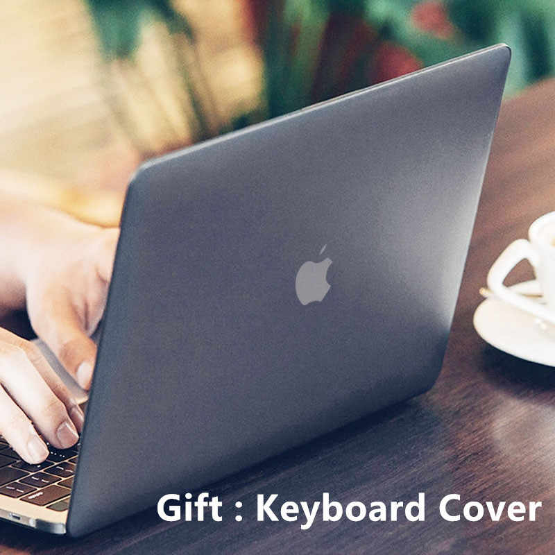 100% authentic 1ff0b ca3f9 Laptop Case for MacBook Air 11 12 inch Crystal Matte Transparent Hard Cover  for Macbook Pro 13 15 Case Coque 13.3'' for Mac book