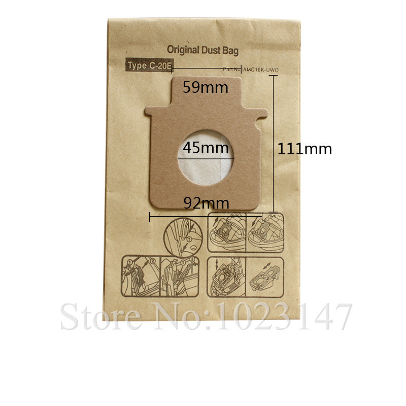 10 pieces/lot Vacuum Cleaner Bags C-20E Dust Paper Bag Replacement for Panasonic MC-E862 MC-E977 MC 7000 MC-CG 461 C7 MC series panasonic мешок для пылесоса panasonic mc 7110
