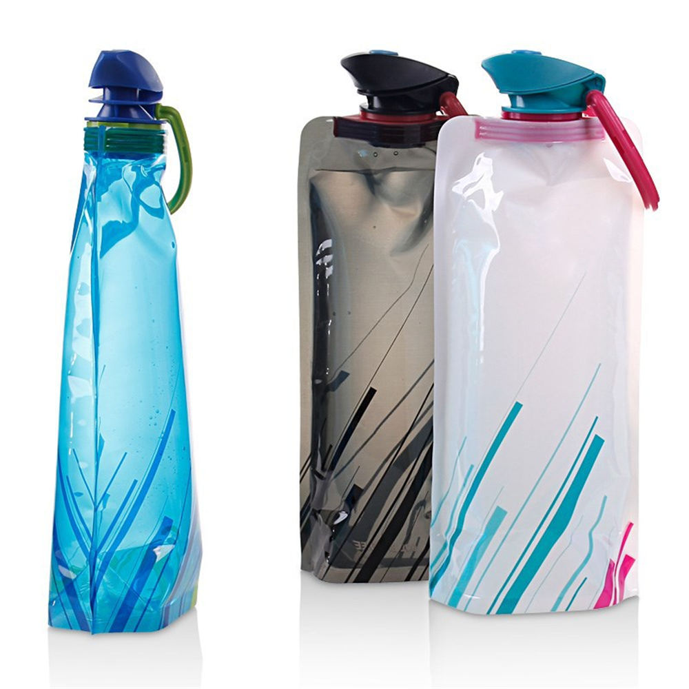 Outdoor folding drinking bag travel cycling sports walking portable bag climbing water bottle kettle travel supplies
