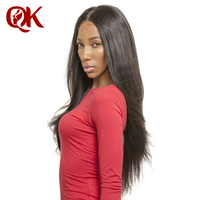 QueenKing волос предварительно сорвал 13x6 Кружева Фронтальная Бразильский Человеческих Волос, шелковистой, прямой 10 18 дюйм(ов) отбеленные узлы е