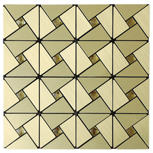 Homey Mosaic 4pcs Gold Peel and Stick Plating MosaicTiles for Kitchen Backsplash Shower Hallway 12inch Wall Fast Shipping