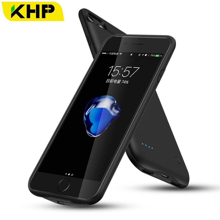 2018 KHP Slim Ladegerät-fall Für iPhone 7 Plus 6 6 s 8 Plus Fall 2500/3200 mAh Energienbank Externe Batterie Power