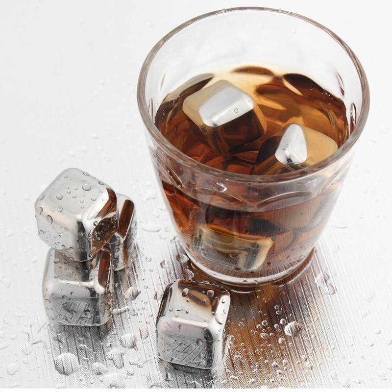 6 st / parti Nyaste Whisky Stainless Steel Stones Whisky Ice Cooler - Kök, matsal och bar