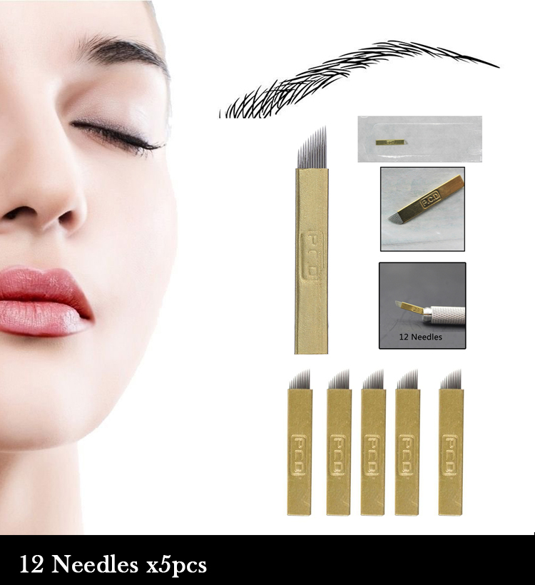 Microblade Eyebrow Kit Permanent Makeup 3D Eyebrow Tattoo Needle ...