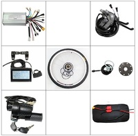 EU DUTY FREE Electric Bicycle Kit Front or Rear Wheel Ebike Conversion Kit 36V 48V 250W Brushless Gearless Motor With LCD Displa