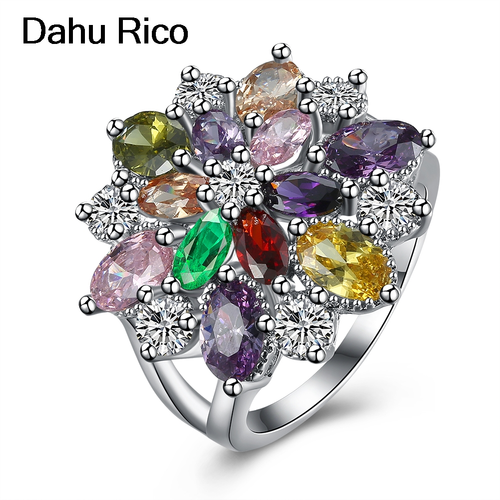 ladies multi colors stone ringen aliancas manilai famous brand liverpool regalos gumus Dahu Rico rings Dahu Rico rings