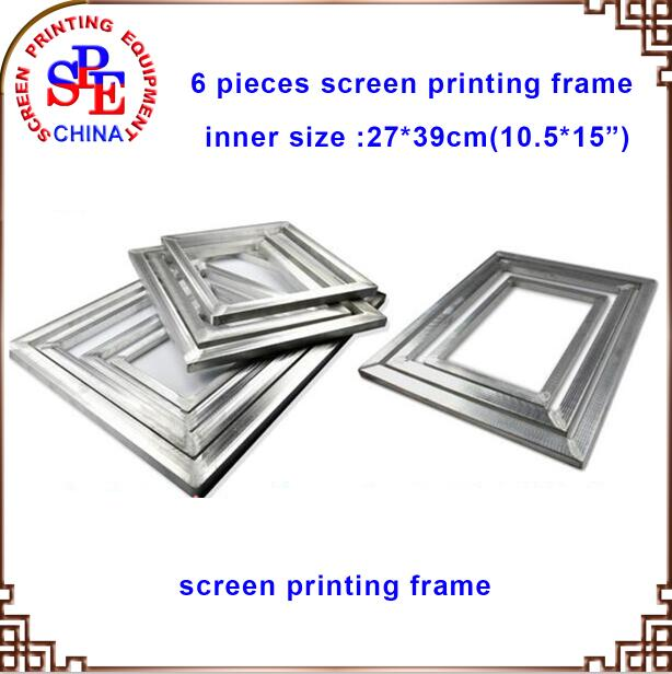 Aluminum Screen Frame 6pcs 10.5x15 Screen Printing Frames Silk Screen Fabric Mesh Aluminum Frame 1pc screen printing aluminum frame for silk print polyester mesh alloy framer outside size 20x30 cm