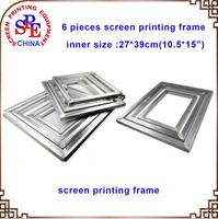 Aluminum Screen Frame 6pcs 10.5x15 Screen Printing Frames Silk Screen Fabric Mesh Aluminum Frame