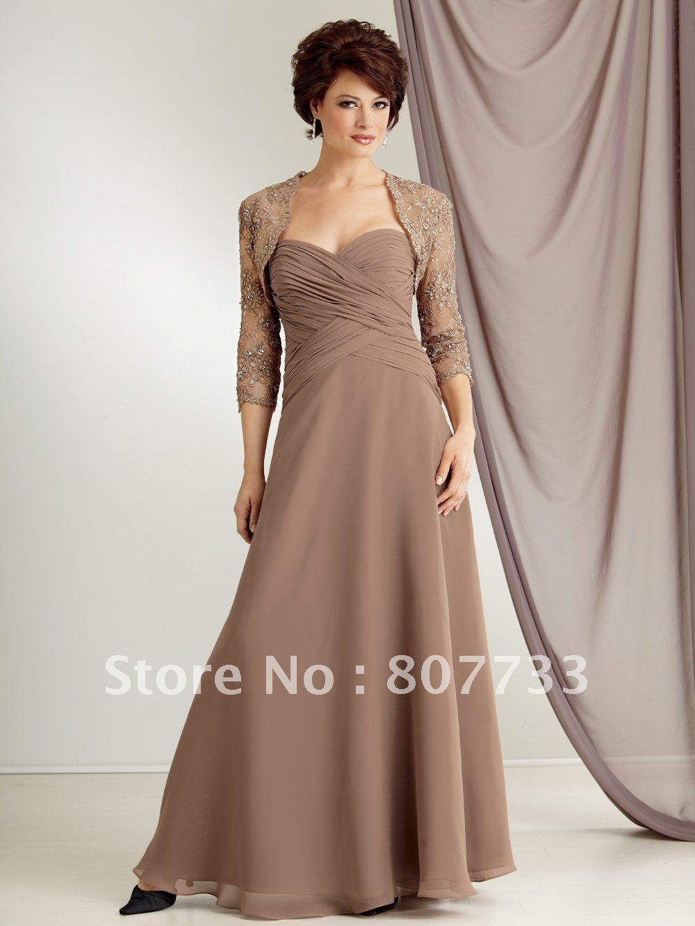 Elegant Strapless Light Brown Chiffon Plus Size Mother Of The Bride Dresses With Jackets In From Weddings Events On