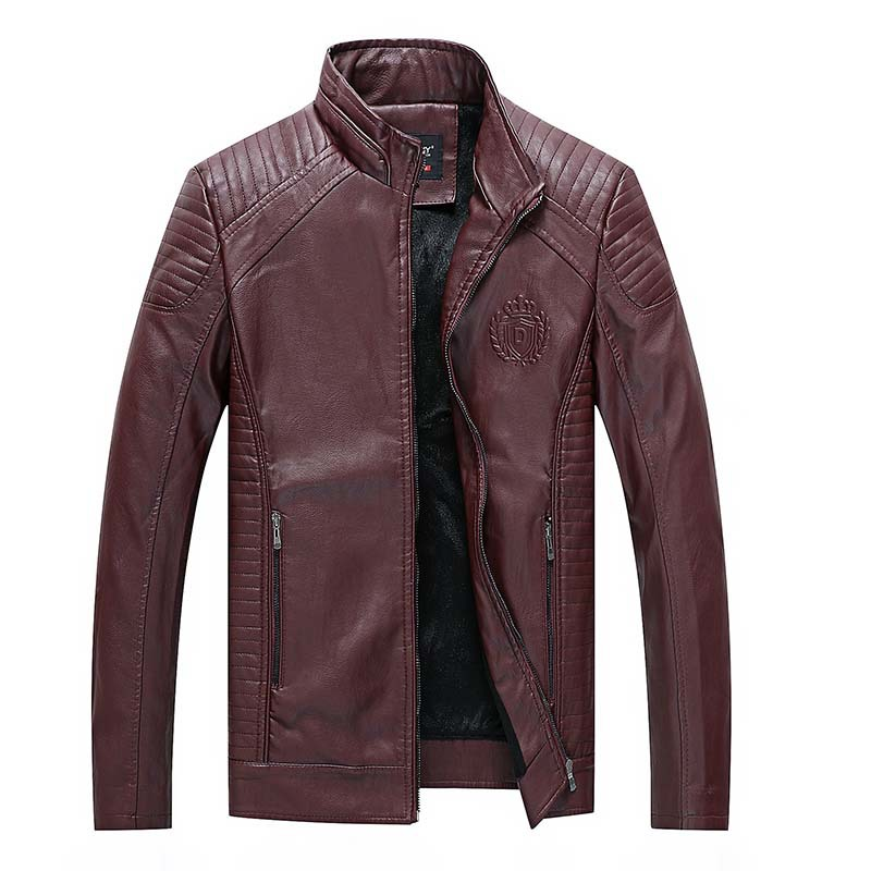 Autumn Winter Mens Leather Jacket Classic Motorcycle Biker Pu Leather Jackets Fur Coat Men Faux Leather Plus Size 5XL 6XL