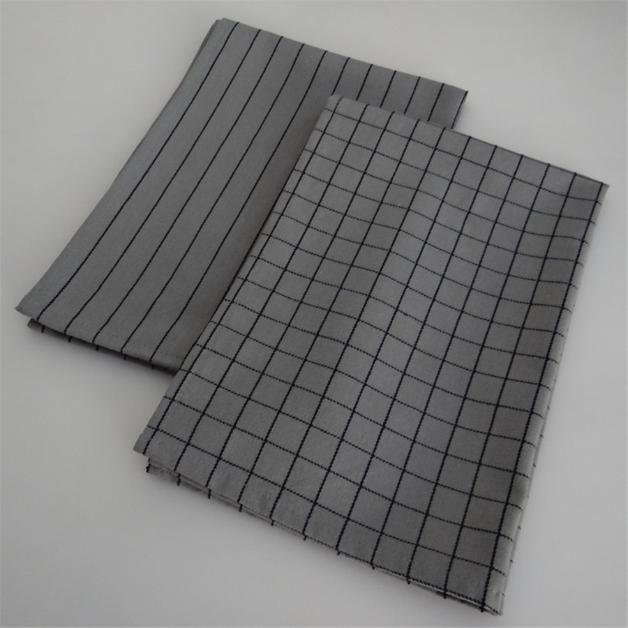 US $3.73 11% OFF|Classic Grey Series Reusable Textile Napkin Plaids and  Stripes Design Home Use Kitchen Towel Fabric Tablemat Coffee Tea Pad-in  Table ...
