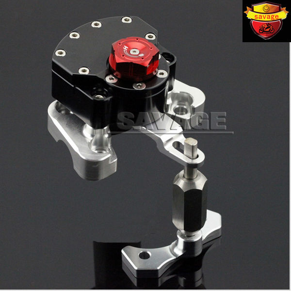 New for ducati monster 696 2008-2014 black motorcycle steering damper stabilizer with mounting bracke