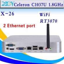 Celeron C1037U компьютер 2 RJ-45 поддержки тонких клиентов win7, Linux, Windows xp, Windows 2003, Ubuntu Debian