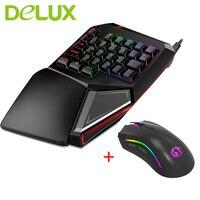ديلوكس t9 المصغرة زائد الألعاب المهنية لوحة المفاتيح السلكية ماوس 7 أزرار 12000 ديسيبل متوحد الخواص الميكانيكية ل عبة لاعب ل laptop pc