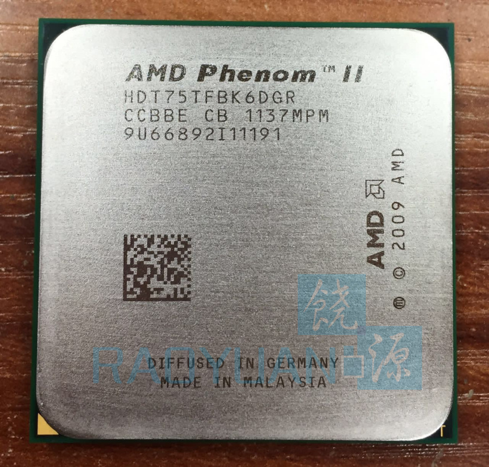 AMD Phenom X6 1075T X6 1075T 3 0GHz Six Core CPU Processor HDT75TFBK6DGR 125W Socket AM3