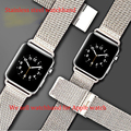 Band Replacement watch Strap Wrist Band Watchband For Apple Watch 38mm 42 mm IWatch Silver Mesh watchbands with adaptor matched