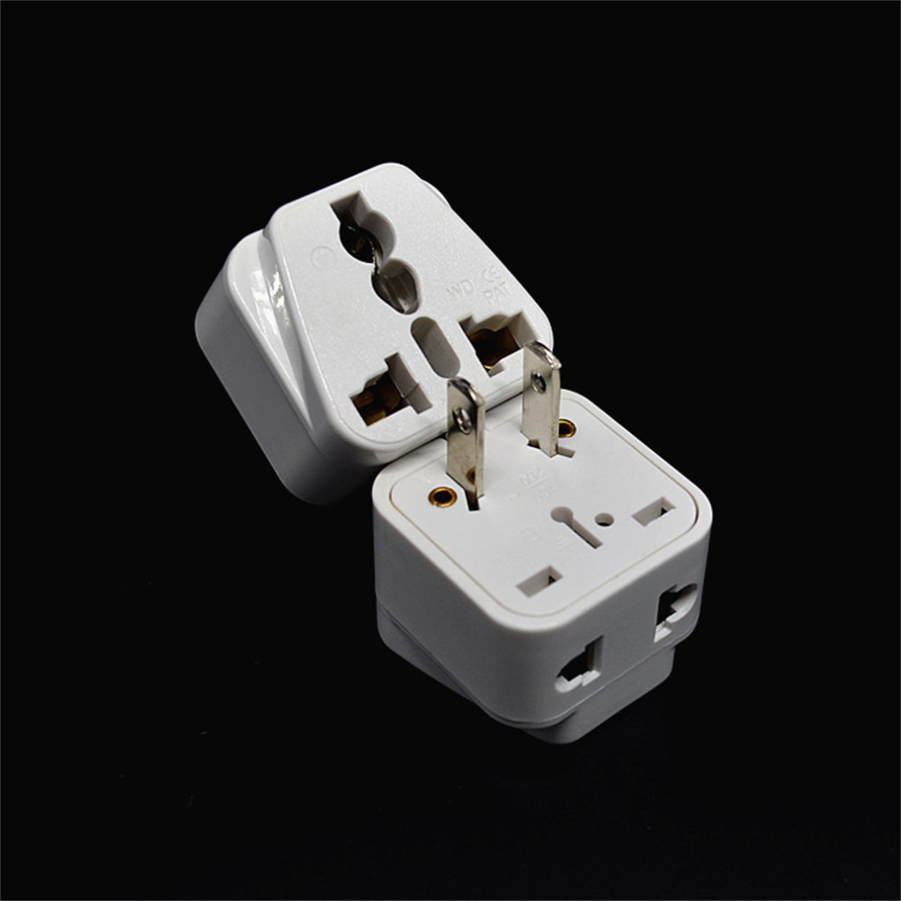 5Pcs 2Pin AC American USA Power Plug Adapter Travel Converter Australia UK EU