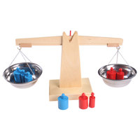 Wooden Montessori Math Materials Balance Scale Set Preschool Educational Learning Toys For Children Juguetes Brinquedos MH1064H