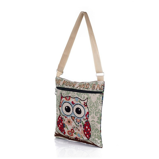 Cartoon Owl Printed Shoulder Bag