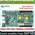 Asyn HD-C30 Full color display LED cartão de controle, P3 P4 P5 P6 P8 P10 display LED controlador, 3840x320 Pixels, a bordo do Flash 4 GB