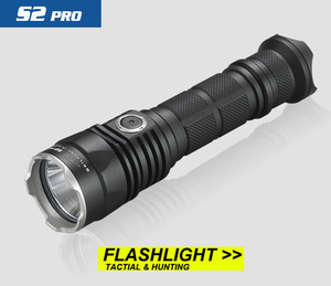 Image 2 - 2017 New SKILHUNT S2 PRO CREE XP L HD or HI LED USB rechargeable tactical 1250 Lumens / 1100 Lumens flashlight