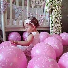 20pcs / παρτίδα Λάτεξ μπαλόνια μωρό 1ο πρώτο γενέθλιο αγόρι κορίτσι τυπωμένο Ballon αριθμός 1 παιδιά γενέθλια κόμμα διακόσμηση
